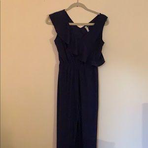NWOT navy blue sleeveless jumpsuit